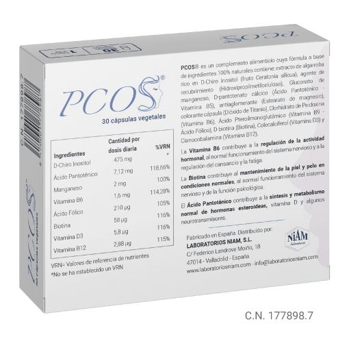 Caja de PCOS - trasera