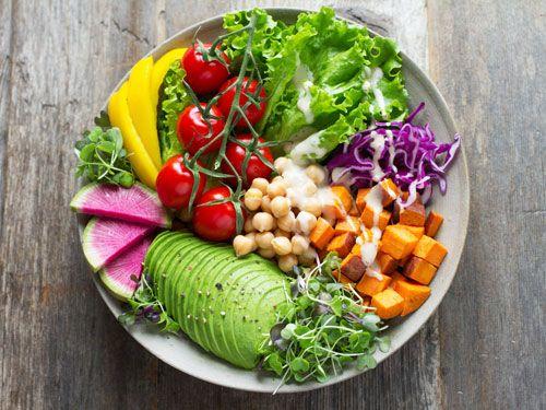 Una ensalada variada y saludable