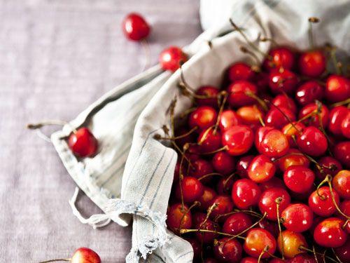 Un montón de cerezas