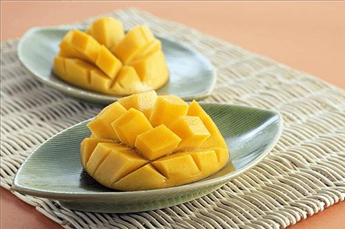 Un rico postre a base de mango