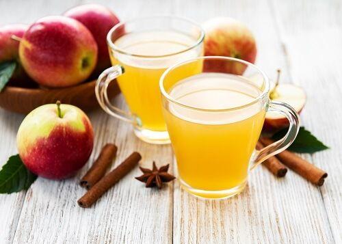 zumo manzana navidad
